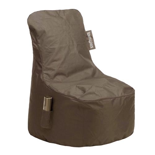 Loungies zitstoel taupe - Taupe gekleurde ...