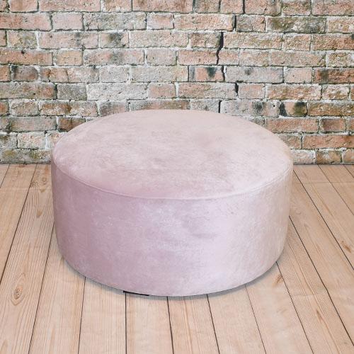 Wonderbaarlijk Grote ronde roze poef - Beursdecoratie.nl RP-09